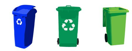 recycle bin icon on white background Illustration