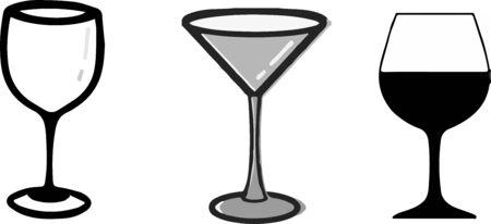 icône de verre d'eau sur fond blanc