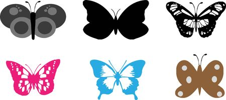 butterfly icon on white background