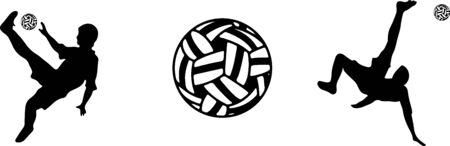 sepak takraw icon on white background