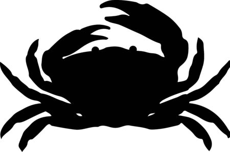 crab icon on white background