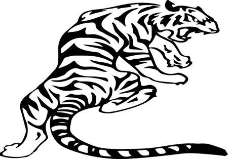 tiger icon on white background