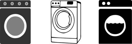 washing machine icon on white background