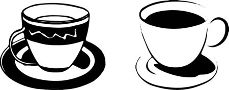 coffee cup or tea cup icon on white background 向量圖像