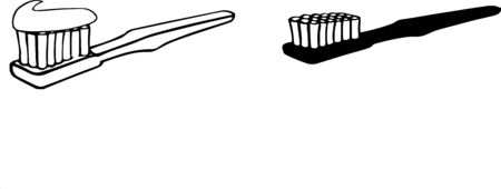 Toothbrush icon on white background