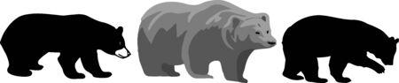 bear icon on white background