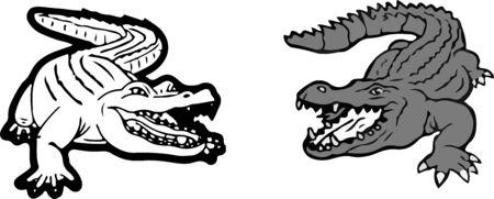 crocodile icon on white background