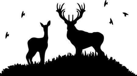 Deer icon on white background Ilustración de vector