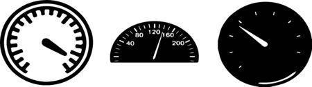 speedometer icon on white background