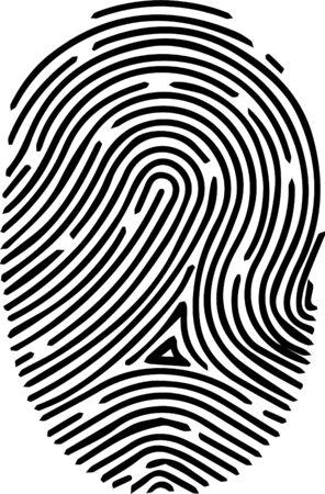 icône d'empreinte digitale sur fond blanc