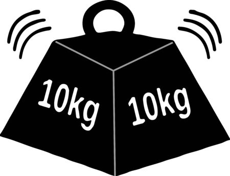 Weight-lifting icon on white background 向量圖像