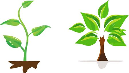 seedling icon on white background Stock Illustratie