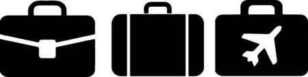 baggage icon on white background