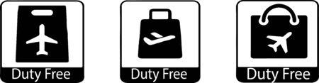 duty free icon isolated on background