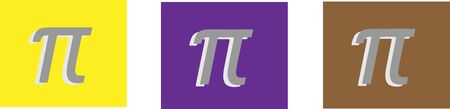 pi icon isolated on background