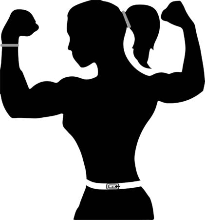 strong muscle icon on white background