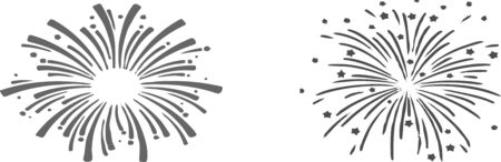 firework icon on white background Çizim