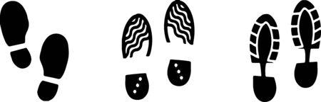 footprint icon on white background