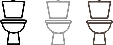 flush toilet icon on white background