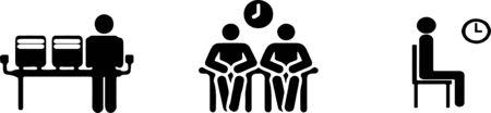waiting icon on white background Ilustrace