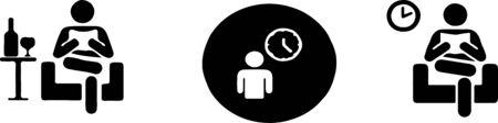 waiting icon on white background Illustration