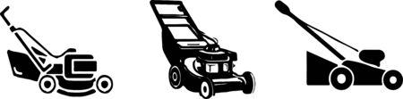 lawn mower icon on white background