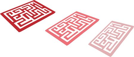 labyrinth icon on white background