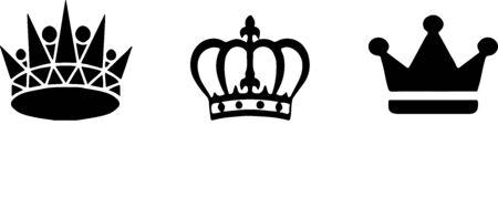 crown icon on white background Stok Fotoğraf - 148132184