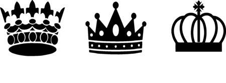 crown icon on white background Stok Fotoğraf - 148132185