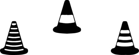 traffic cone icon on color background Imagens - 148021292