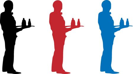 waiter icon on white background