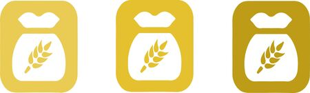 Bag of wheat line and glyph icon on background Vektorgrafik