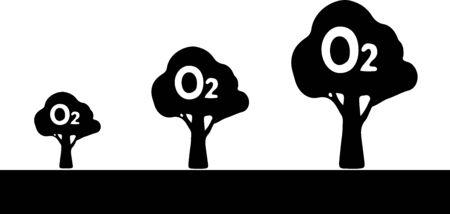 Oxygen O2 Icon, vector illustration. Vektorové ilustrace