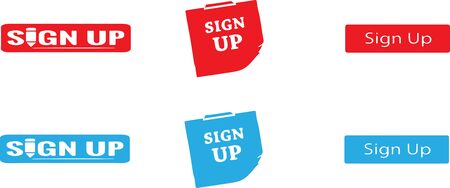 sign up icon on white background Stock Illustratie