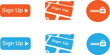 sign up icon on white background Illustration
