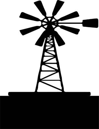 windmill icon isolated on background