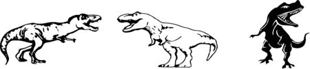 dinosaur vector on color background Vectores