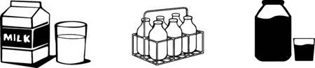 milk icon on white background