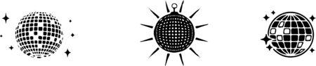 Disco ball vector icon illustration design template Vettoriali