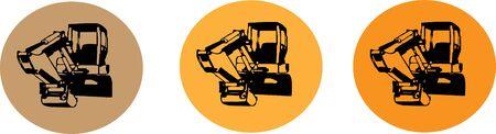 Excavator vector illustration on background