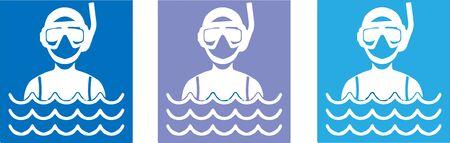 scuba diving icon vector illustration Illustration