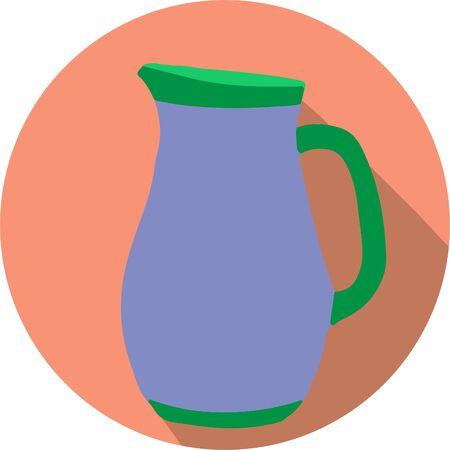 jug icon isolated on background