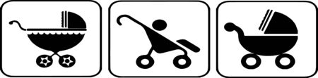 stroller icon isolated on white background