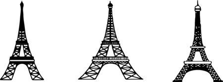 Eiffelturm-Vektor isoliert auf weißem Hintergrund