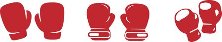 boxing gloves icon isolated on background 矢量图像