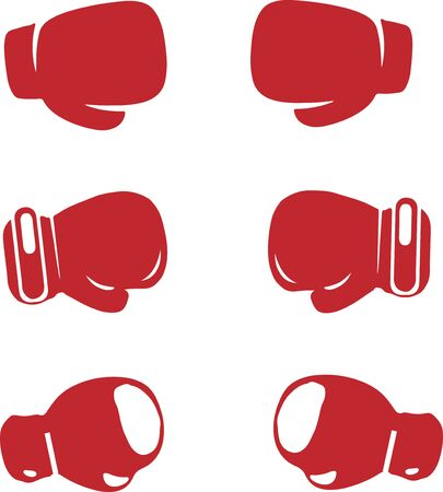 boxing gloves icon isolated on background Иллюстрация