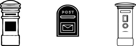 mail post box icon isolated on white background