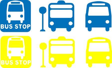 bus stop icon isolated on background Ilustração Vetorial