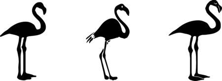 flamingo icon isolated on white background