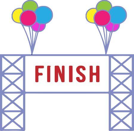finish gate icon isolated on white background